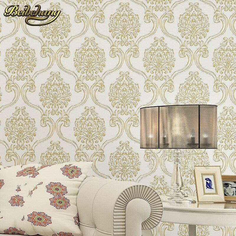 beibehang European Damascus papel de parede 3D wallpaper for walls 3 d mural wallpaper roll for walls living room 3d wall paper