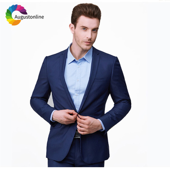 Royal Blue Men Suits Wedding Slim Fit Groom Blazer Tuxedos 2 Pieces (Jacket+Pants) Bridegroom Best Man Prom Wear beige slim fit wedding suits groom tuxedos 2 pieces jacket pants bridegroom men suits best man blazer prom wear