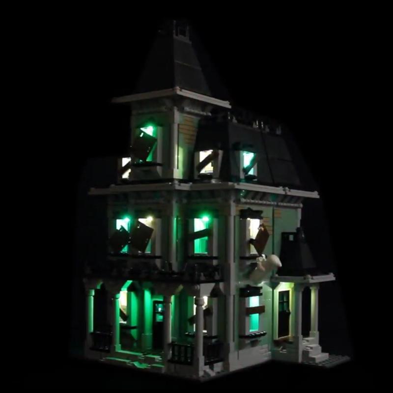 light my bricks led light kit for lego haunted house set 10228