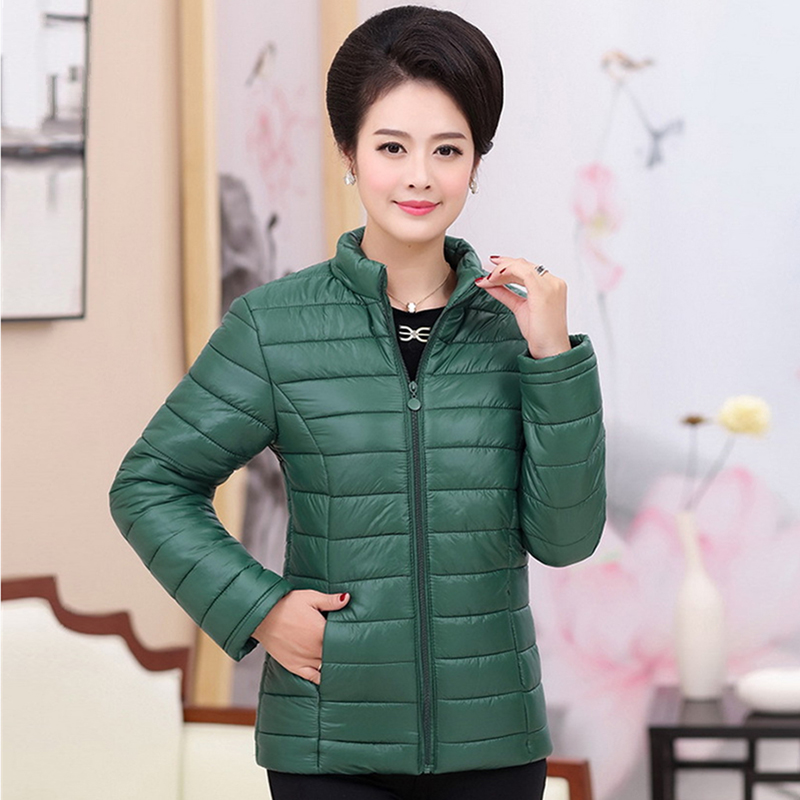 Plus size 4XL 5XL ultra light down Cotton jacket women 2018 Fashion streetwear baseball jacket winter casual Windproof outerwear 3