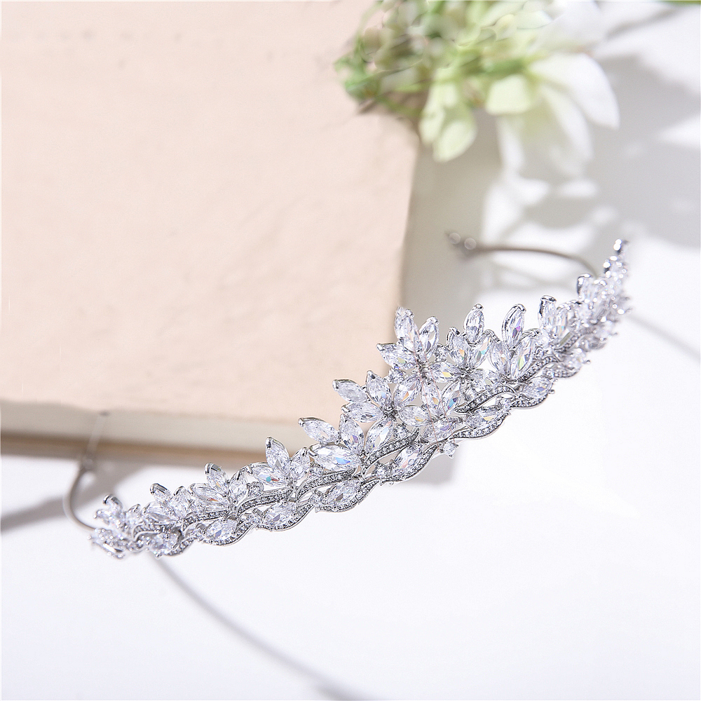 Parmalambe High Quality Shining Zircon In Clear Bridal Headpieces Tiaras And Crowns Hair Jewelry Wedding Hair Accessories цена