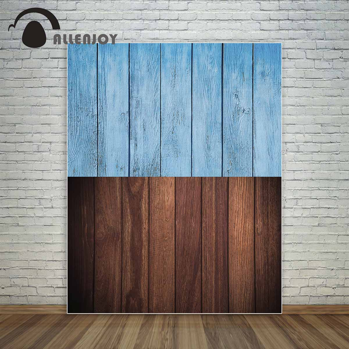 Allenjoy blue wood and brown wood board for little objects easter backdrop backdrop for a photo shoot photo booth