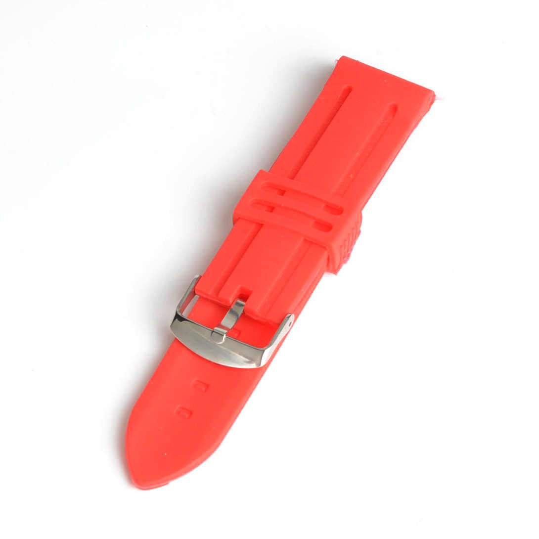 5pcs/lot Men Women 22mm Red Silicone Watch Band Strap Bracelet Fashion Watchband SB0522