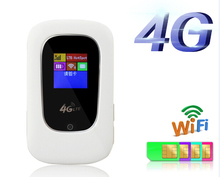 Unlocked Wireless Wifi Router 100Mbps 4G LTE Mini Mobile Hotspot Portable 3G 4G Wi-Fi Modem Router With SIM Card Slot