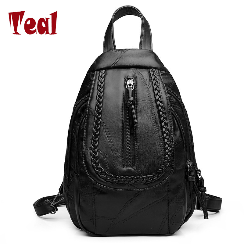 2017 new fashion Women Backpack High Quality Top-Handle Large Capacity School Bags For Teenagers Girls Soft Female BackPack