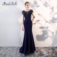 Modabelle Dark Navy Lange Abendkleid Elegante Sukienki Wieczorowe Nixe Sexy Frauen Abendkleid Partei-kleid 2018