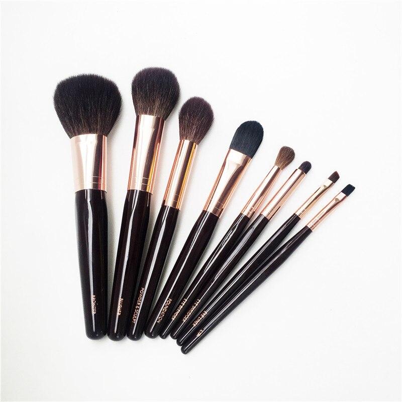BD CT-Série 8-Brushes Ensemble Complet-Bronzer/Blush/Mélangeur/Fondation/Poudre et Sculpter/tache/Lèvres/Doublure-Maquillage Outil Applicatior
