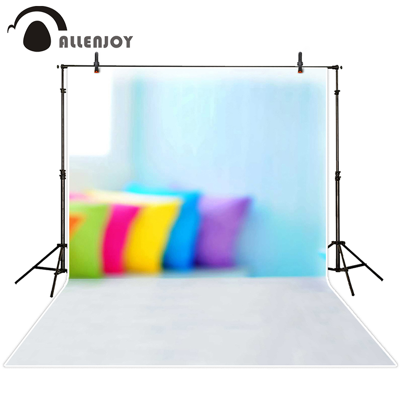 Allenjoy photographic background Fuzzy sofa pillows backdrops princess wedding scenic fabric 8x12ft