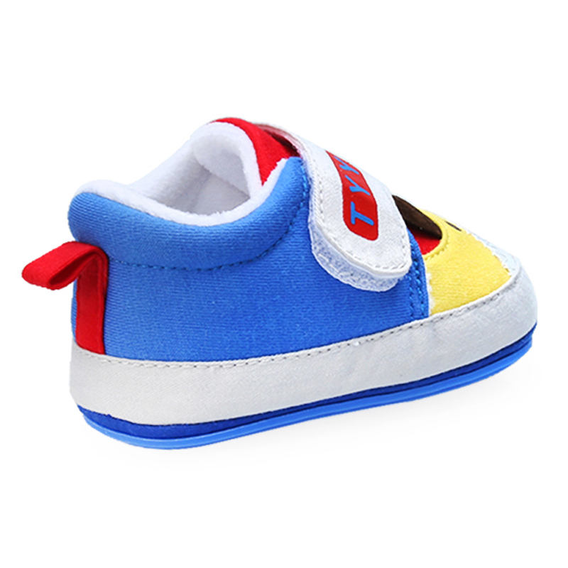 New Arrival Cotton Patchwork Bear Pattern Hard Sole Baby Girl and Boy Toddler Shoes For 0-15 Months