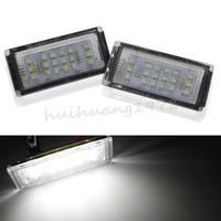2PCS 18 LED 3528 SMD License Plate Light Lamp For 2Door BMW 3 Series E46 M3