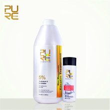 PURC 5% Formalin Brazilian Keratin Treatment And Keratin Purifying Shampoo Hair Care Set Repair Damaged Hair Straighten Hair