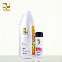 PURC 5% Formalin Brazilian Keratin Treatment And Keratin Purifying Shampoo Hair Care Set Repair Damaged Hair Straighten Hair