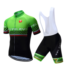 teleyi Cycling Jersey Top Quality Seamless Stitching Short Sleeves Bicycle Clothing 5D Gel Pad Short Maillot Ciclismo 133