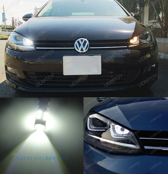 2pcs high power led daytime running light drl replacement bulb for vw golf mk7 golf7 golf vii. Black Bedroom Furniture Sets. Home Design Ideas