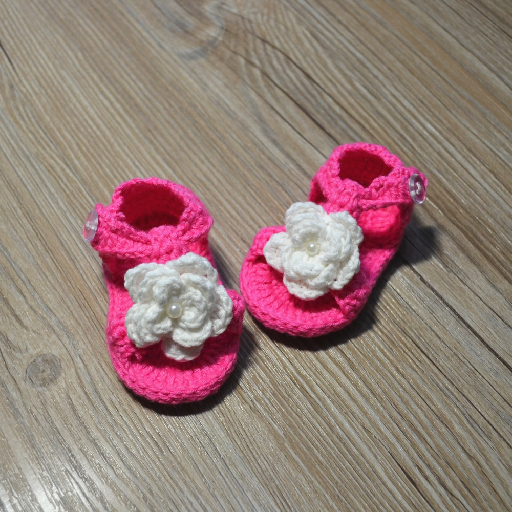 QYFLYXUE-Gehaakte babyschoenen, gehaakte baby slofjes, Baby ballerina - Baby schoentjes - Foto 1