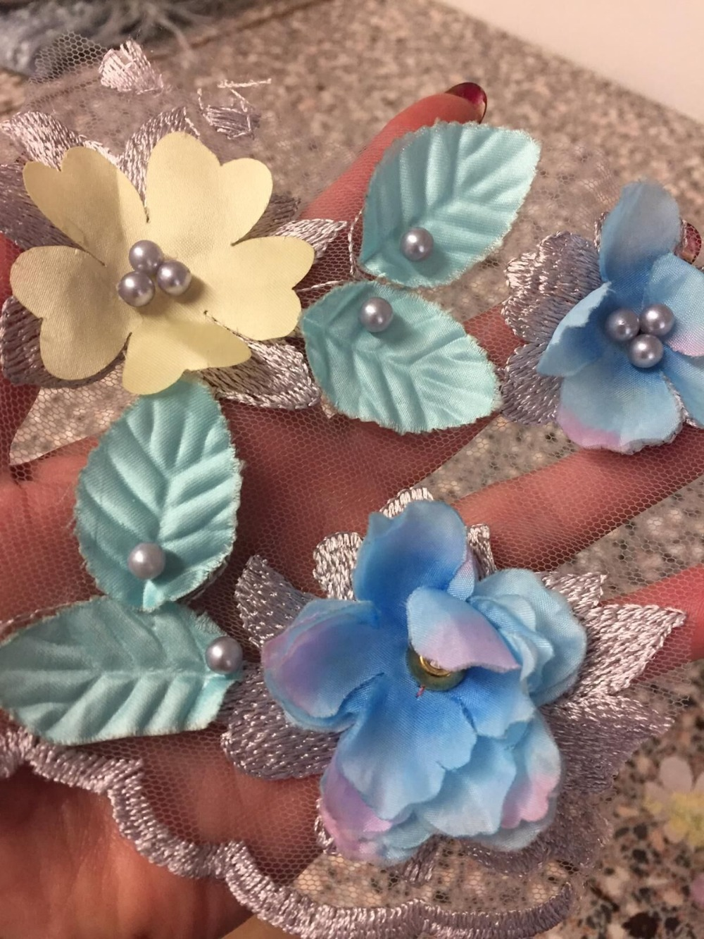 ขาย Top tulle ปักวัสดุ CiCi 6653 ภาษาฝรั่งเศสคำสุทธิผ้าลูกไม้เย็บปักถักร้อยลูกไม้ tulle ผ้าดอกไม้-ใน ลูกไม้ จาก บ้านและสวน บน   2
