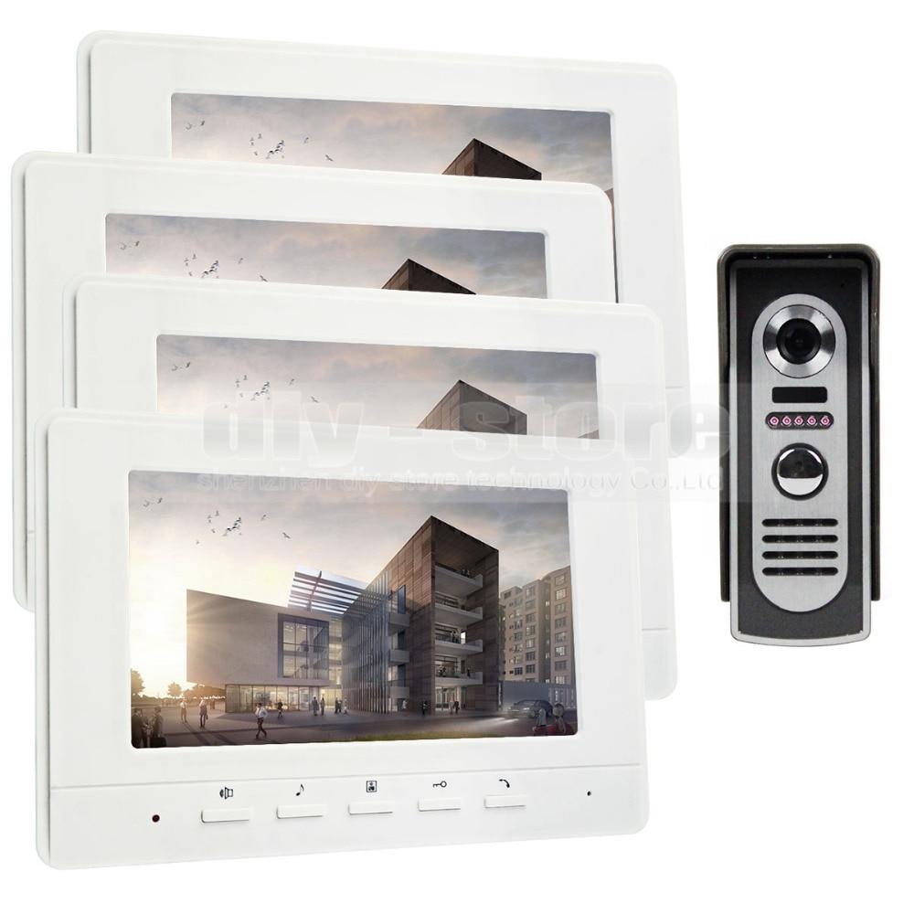 DIYKIT 800 x 480 7inch Video Intercom Video Door Phone 600TV Line IR Night Vision Outdoor