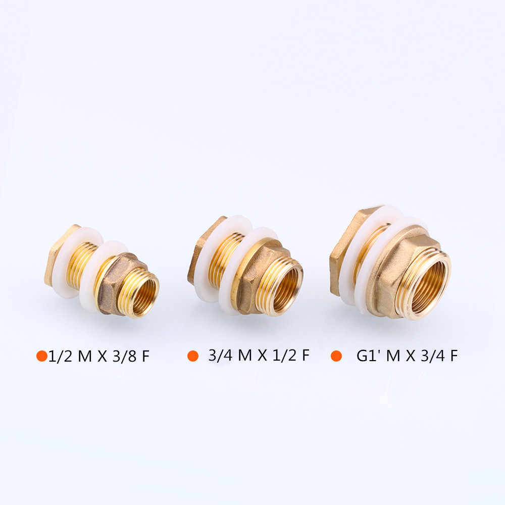 "Tank Water Box Pool Water Tower Accessories Female Male Full Brass 1/2"" 3/4"" 1"" 3/8""Copper fittings for water tank joint"
