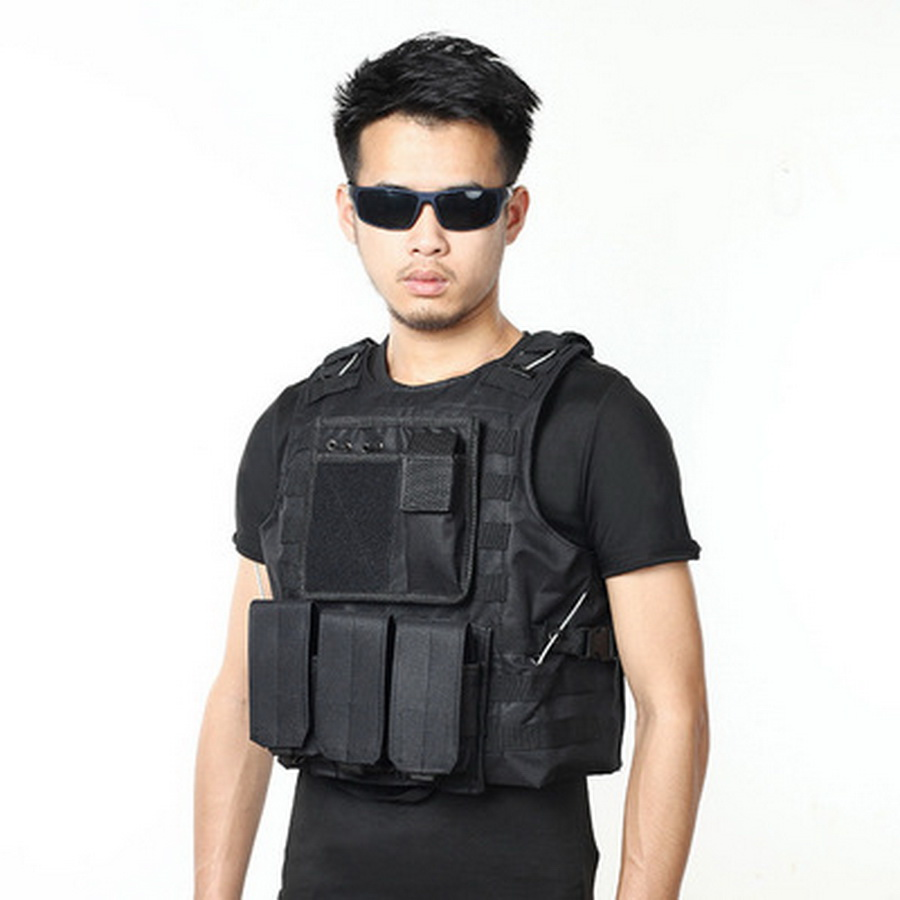 by dhl 50pcs USMC Tactical Military Airsoft Molle Combat Assault Plate Carrier Vest CS Outdoor Equipment