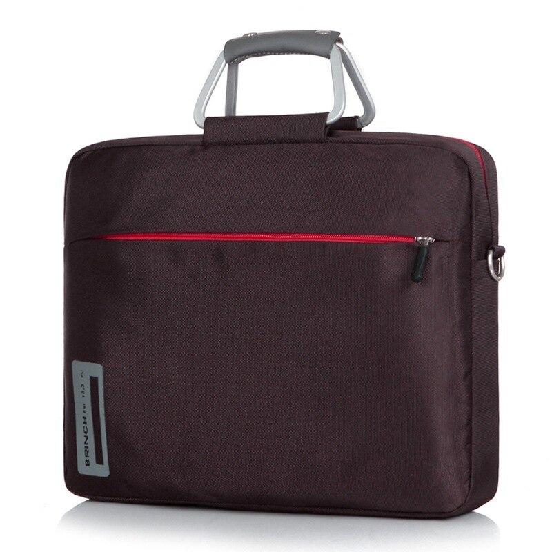Бринч 13 14.1 15.6 дюймов материал нейлон алюминиевый сплав ноутбук сумки для обувь для мужчин и женщин на одно плечо сумка для ноутбука BW-127