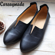 New style Genuine Leather pure handmade shoes, the retro art mori girl shoes,Women's casual shoes Flats shoes,#1038/ 2 colors