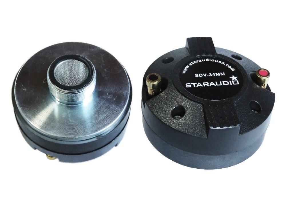 Kombination-lautsprecher Unterhaltungselektronik Staraudio Sdv-34mm 2 Stücke 1,35 2000 Watt Titan Kompressions Schraube-auf Hornlautsprecher-treiber Hochtöner