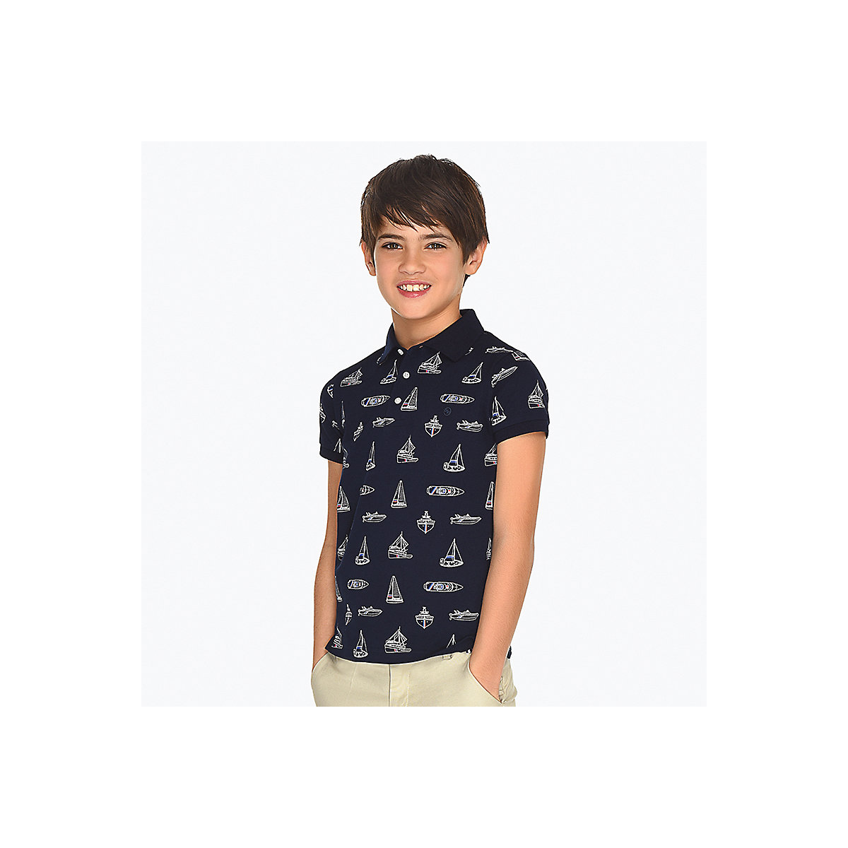 MAYORAL Polo Shirts 10690486 Children Clothing T-shirt Shirt The Print For Boys
