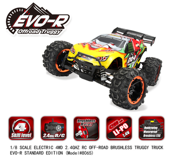 56cm large professional Racing RC car 8065 25mins 1/8 SCALE ELECTRIC 4WD 2.4GHZ RC OFF-ROAD BRUSHLESS TRUGGY TRUCK image