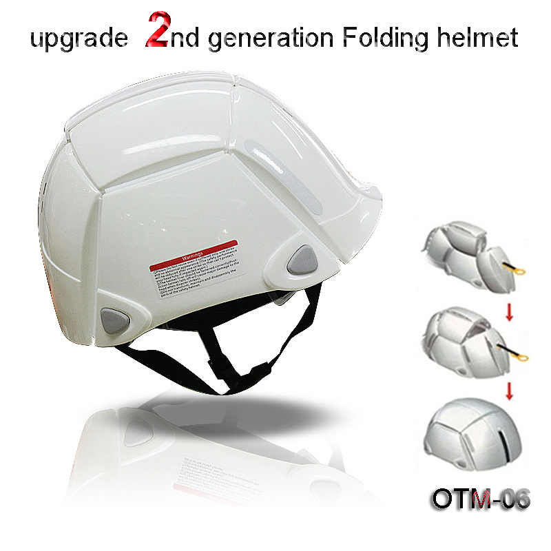 OTM-05 Folding Helmet New 1 Second Folding Helmet Earthquake Collapse Outdoor Rescue Escape Limited Space Helmet