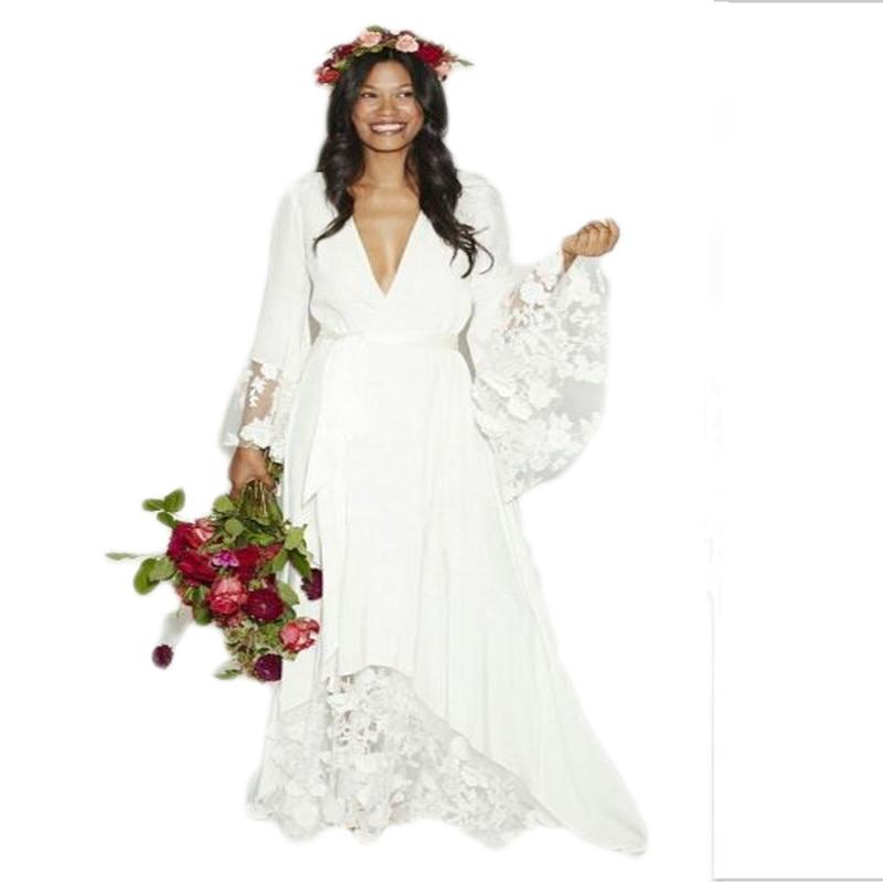 2016 new arrival fashion boho bohemian hippie style beach for Hippie style wedding dresses