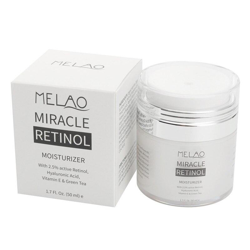 Hyaluronsäure Organische Retinol Feuchtigkeitscreme Gesicht Creme Anti-aging Face Augenpartie Vitamin E und Grüner Tee Gesicht Whitening creme