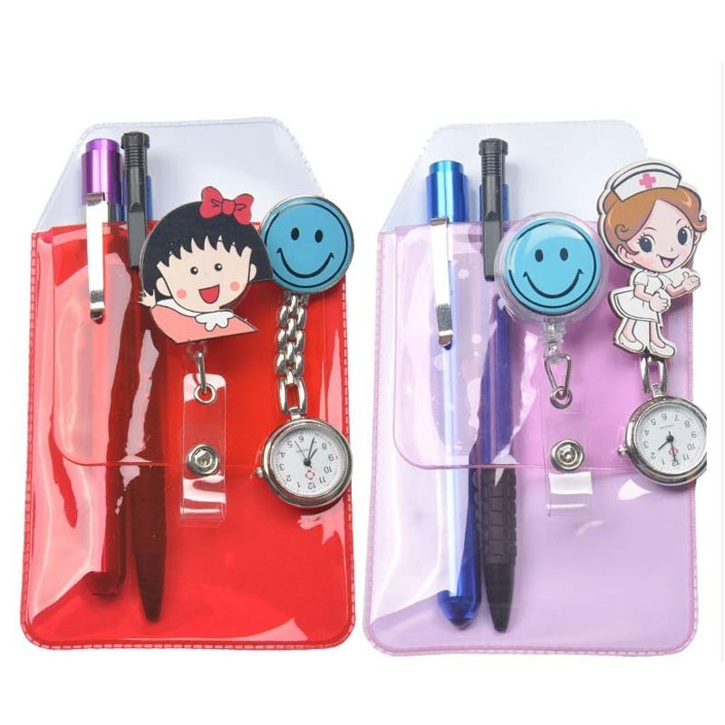 Nouveau design infirmières stylo étui brillant mat stylo pratique inséré étanche PVC matériau pénalité ensemble