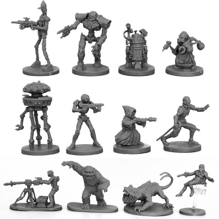 Star Wars Wargame 1:48 Scale <font><b>Resin</b></font> <font><b>Figure</b></font> Model Kit Robot Miniature Static Modelling DIY Toys Hobby Tools Unpainted Kits image
