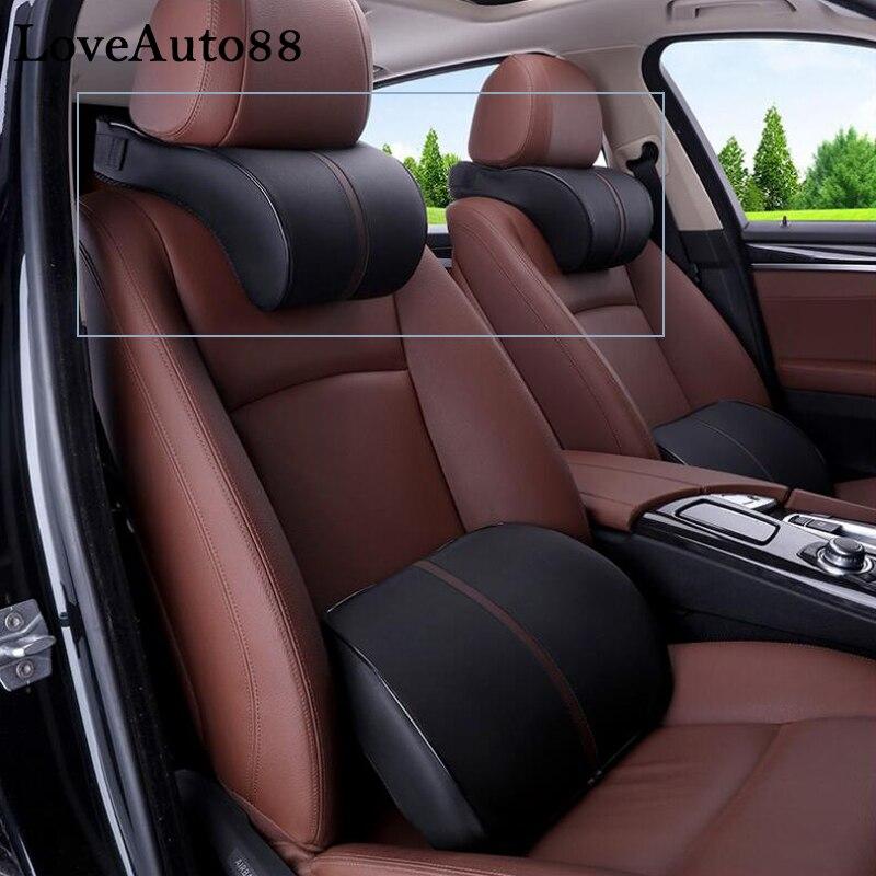 For Toyota RAV4 RAV-4 2019 2020 PU Leather Auto Car Neck Pillow Memory Foam Pillows Neck Rest Seat Headrest Cushion Pad