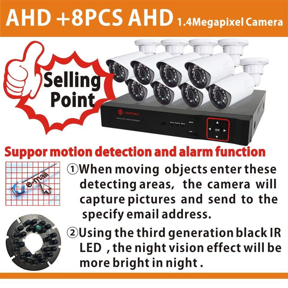 AHD 960P Camera 8CH CCTV System 8 Channel DVR Surveillance Security System Outdoor Warterproof Night Vision IR Camera DIY Kit лазер для охоты unbranded fit 11 20 a40002