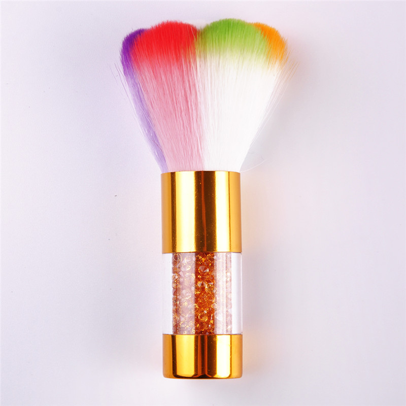 Nail Art Brush Cleaner: 1pc Colorful Nail Dust Brushes Acrylic UV Nail Gel Powder