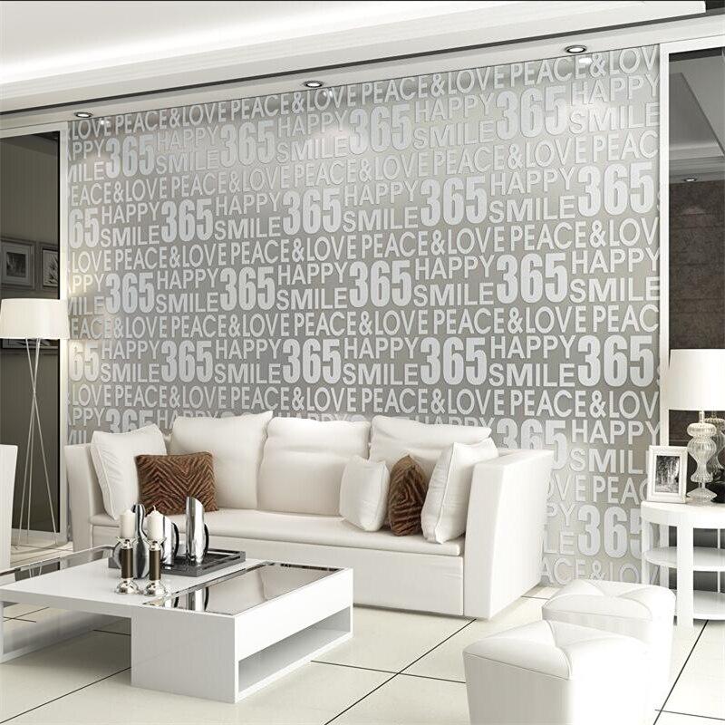 Beibehang Simple moderne personnalité Anglais alphabet papier peint 3d épais rembourré cerfs peau salon canapé fond mur papier