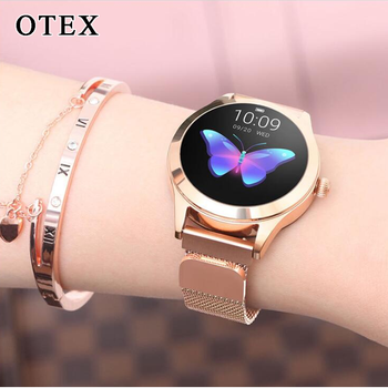 KW10 Women's Smart Watch Stainless Steel IP68 waterproof Multi-Pedometer Heart Rate Fitness For Android IOS Fitness Bracelet