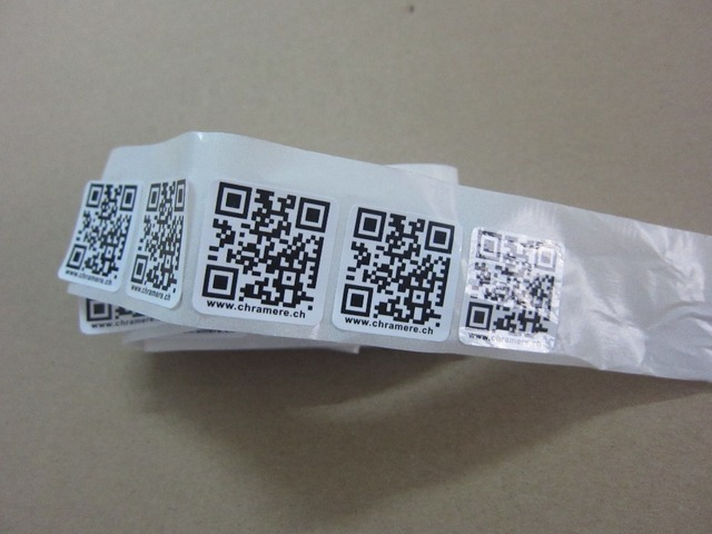 5000 pc lot custom qr code sticker custom printing quick response code label