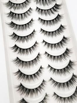 NEW 2/5/10 Pairs Natural False Eyelashes Fake Lashes Long Makeup 3d Mink Lashes Extension Eyelash Mink Eyelashes for Beauty 54 1