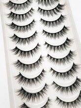 Faux cils longs et naturels, 5/10 paires, extension de vision, pour maquillage de cils, beauté 54