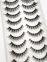 Novo 2/5/10 pares natural cílios postiços falsos cílios longos maquiagem 3d vison cílios extensão cílios vison para a beleza 54