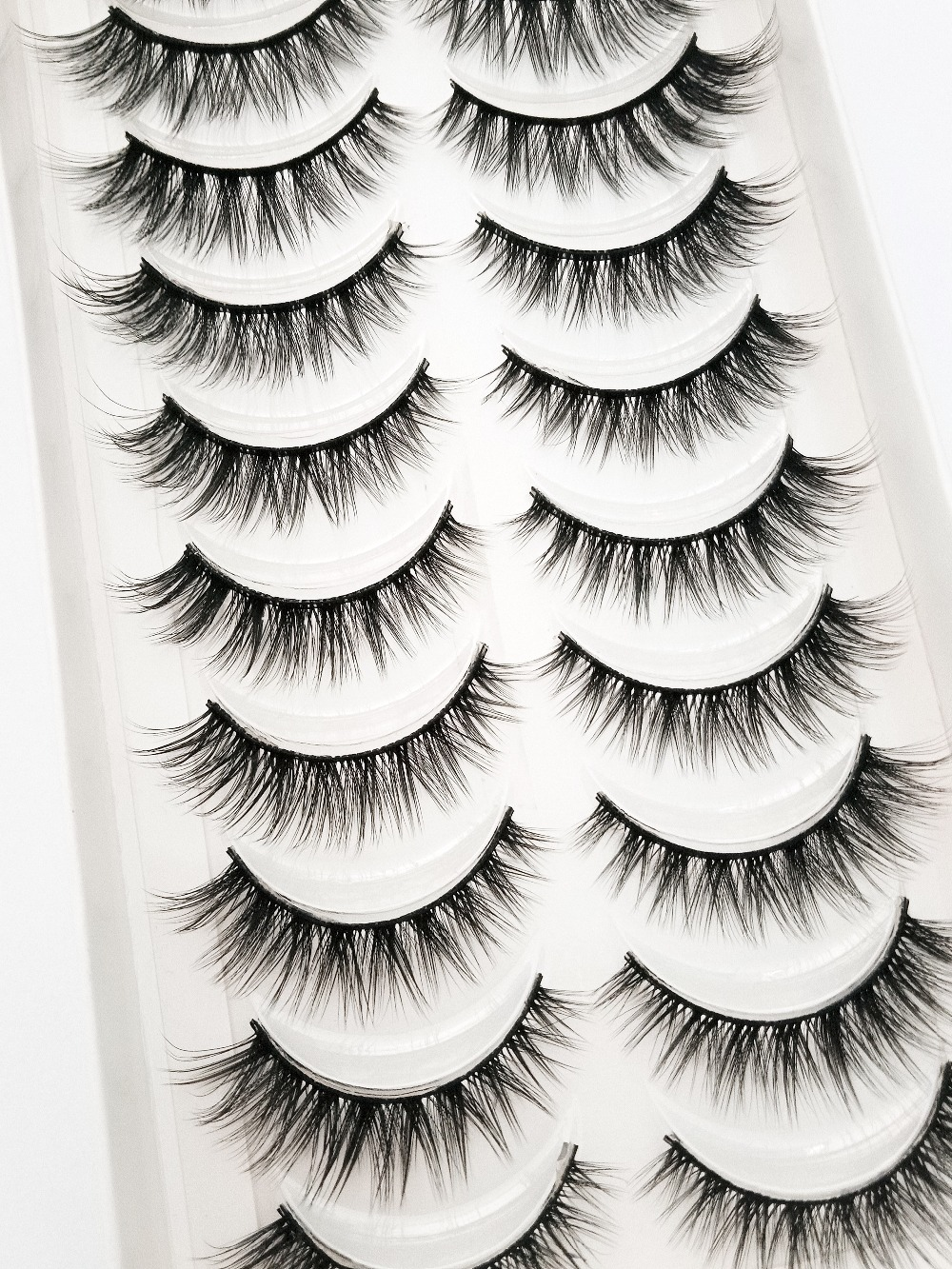 NEW 3/5/10 Pairs Natural False Eyelashes Fake Lashes Long Makeup 3d Mink Lashes Extension Eyelash Mink Eyelashes For Beauty 54