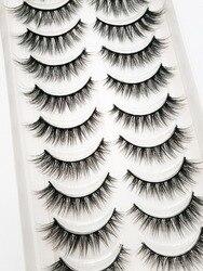 NEW 5/10 Pairs Natural False Eyelashes Fake Lashes Long Makeup 3d Mink Lashes Extension Eyelash Mink Eyelashes for Beauty 54
