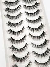 Novo 5/10 pares naturais cílios postiços falsos cílios longos maquiagem 3d vison cílios extensão vison cílios vison para a beleza 54