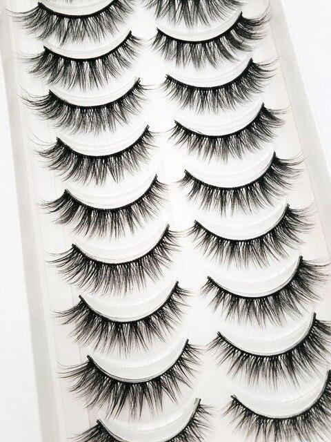 Yeni 5/10 pairs doğal yanlış eyelashes takma kirpik uzun makyaj 3d vizon kirpik uzatma kirpik vizon kirpik güzellik için 54