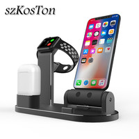 Charger Dock Holder Stand For iPad iPhone X 8 7 6 Plus Charging Dock Station Cradle Bracket For Apple Watch 1 2 3 4 For AirPods