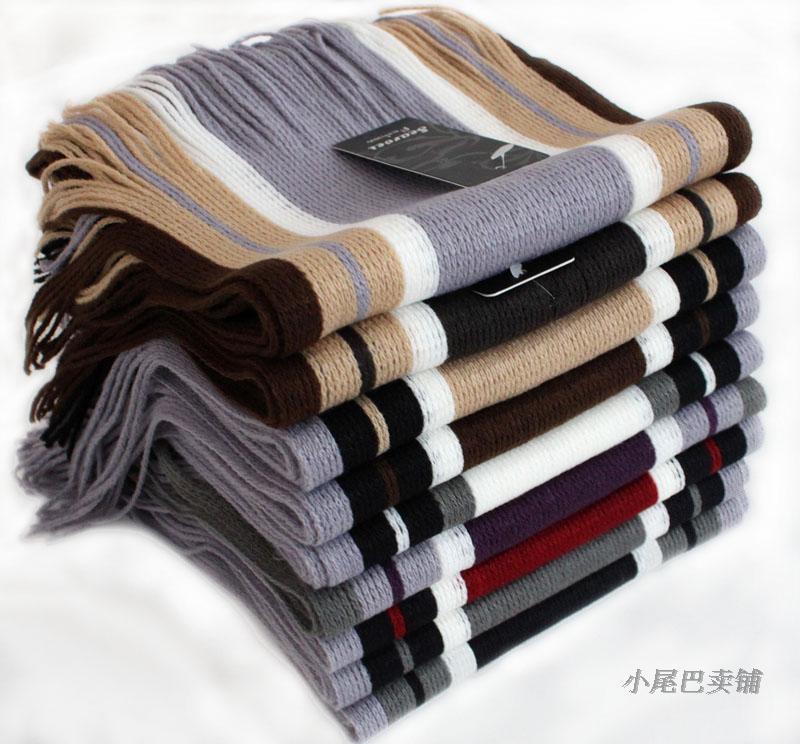 cheap new mens scarf fashion winter tassel patchwork