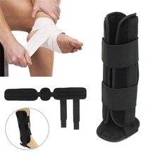 New Arrival Adjustable Ankle Support Reborn Splint Brace Sprain Injury Fracture Rehabilitation Sticker Strap Stabilizer Black
