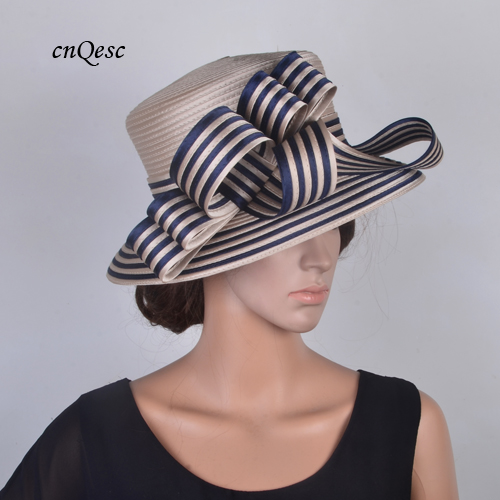 Dantiya Womens Derby Hat Pearl Straw Cap Bucket Hat With Bow